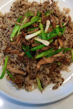 Mushroom and mixed rice