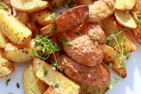 Duck fat roasted baby creamer potatoes