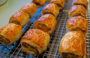 Chicken and Vegie Sausage Rolls 2
