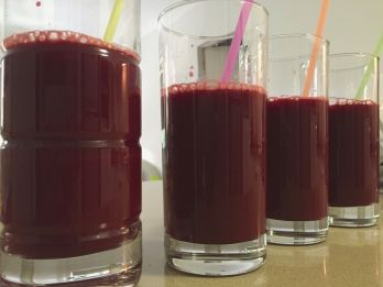 Some serious beetroot-based detox needed compliments of Paula's juicer