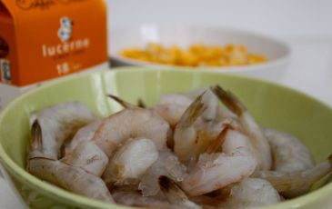 Frozen shrimp work perfectly fine in the soup