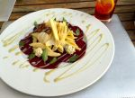 Beet and apple salad with Roquefort and fennel dressing