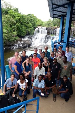 Group excursion to the Cascades de la Soumba