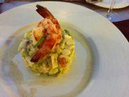 Shrimp, avocado and heart of palm salad
