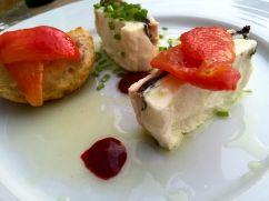 Goat cheese appetizer from the Millenium