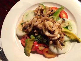 Calamari salad from Le Loft