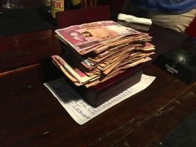 Paying for our group dinner - a paltry 2 million