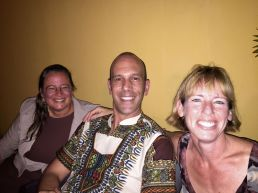 Jennifer, me and Elise - Go Canada!
